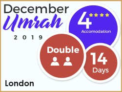 4 Star Umrah Package, London, December 2019, Double Room