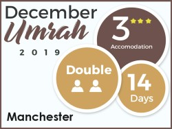 3 Star Umrah Package, Manchester, December 2019, Double Room