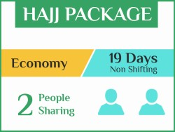 Hajj Package 2019, 19 Days, Non Shifting, Double Room