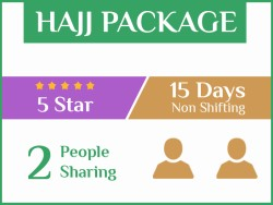 Hajj Package 2019, 15 Days, Non Shifting, Double Room