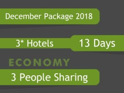 3* December Umrah Package for 3 people