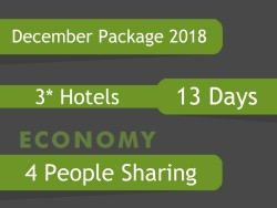 3* December Umrah Package for 4 people